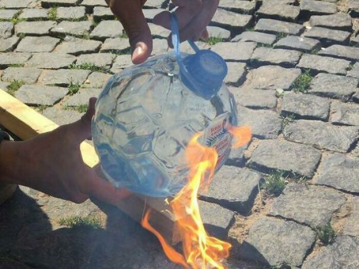 This Football Shaped Bottle By A Mineral Water Company Ahead Of Football Worldcup Russia 2018 That Turns Into Spherical Magnifying Glass And Gets On Fire When In Sun For More Than A Minute