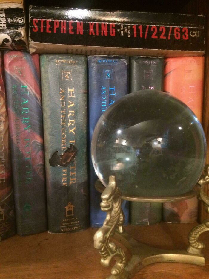 The Sun Shining Through A Crystal Ball And Burned A Hole Through My Copy Of Goblet Of Fire