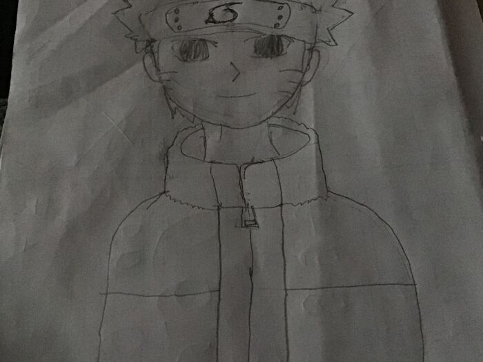 A Drawing Of Naruto From Recent Still Young Btw