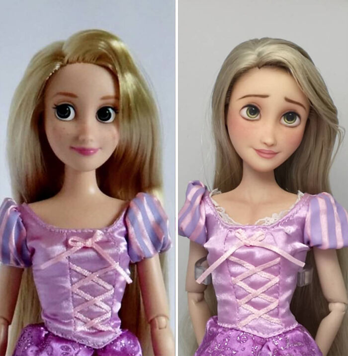 Artist Repaints Dolls In A More Realistic Way (30 New Pics)