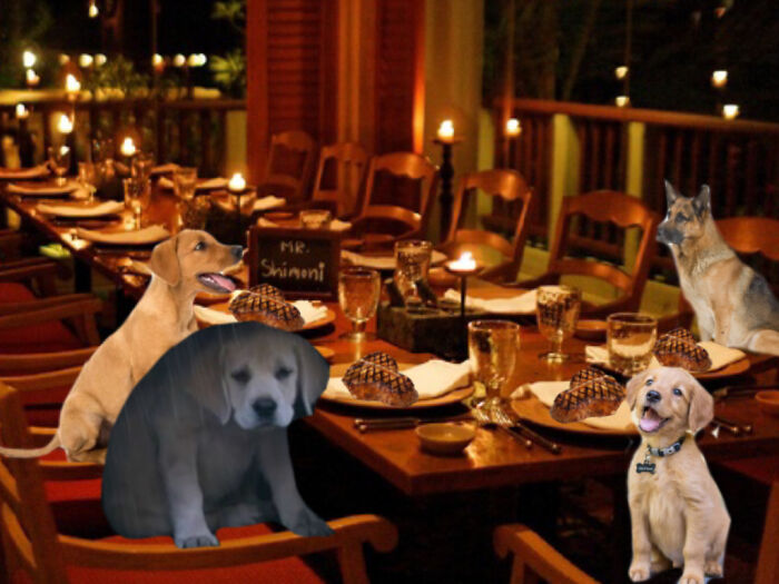 His Friends Take Him Out For A Nice Steak Dinner