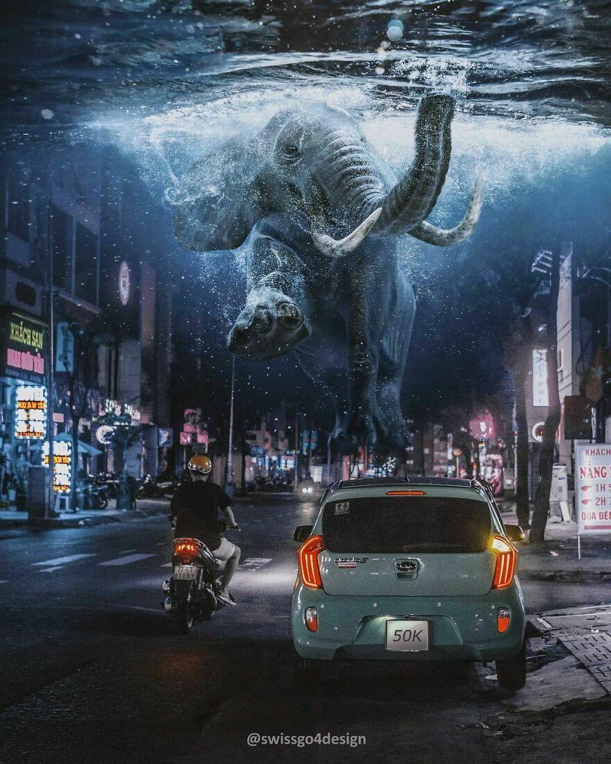 50k! Thank You Very Much For Your Support! . . #elephant #streetart #art #surrealismworld #surrealart #enter_imaginations #entersurrealism #enterimagination #learnphotoshop #xceptionaledits #launchdsigns #theuniversalart #thecreativers #thecreart #fxcreatives #fubiz #gmofps #graphicroozane #milliondollarvisuals #citykillerz #creartmood #diggin_art #discoveredit #imaginativeuniverse #igcreative_editz #ig_shotz_magic #ps_pantone