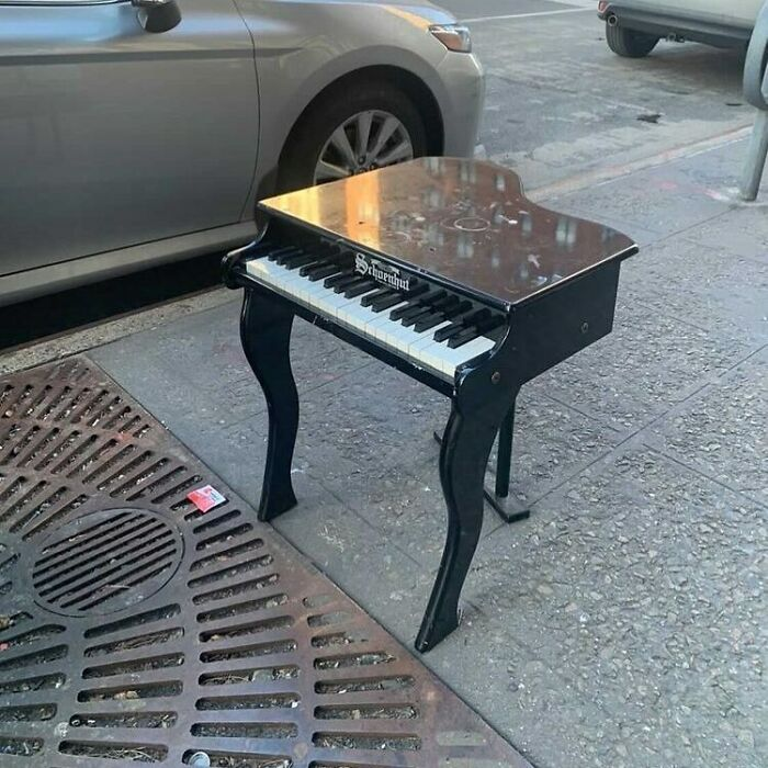 Now There's No Excuse To Stop Those Piano Lessons! This Little Guy Will Fit Nicely In Your Studio! Baby Piano On 3rd And 72nd!