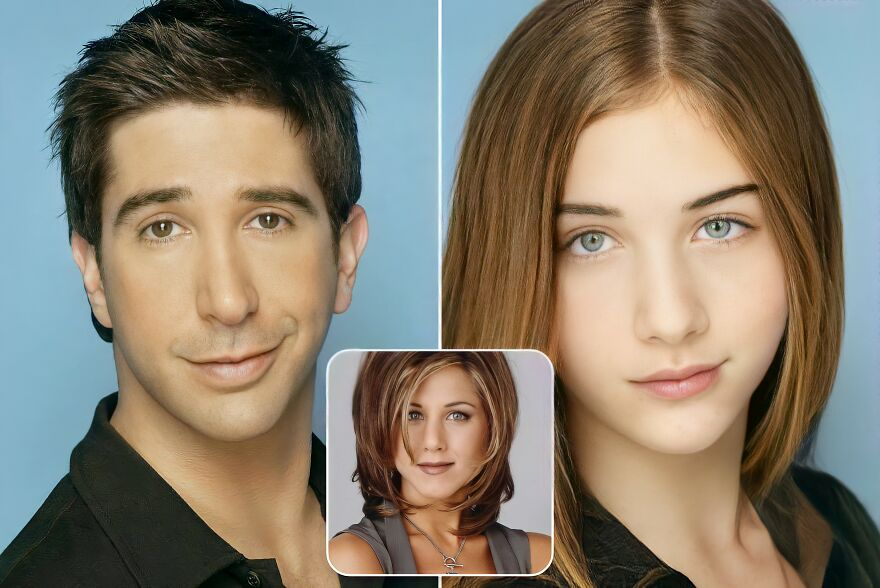 Ross Geller And Rachel Green (Friends)