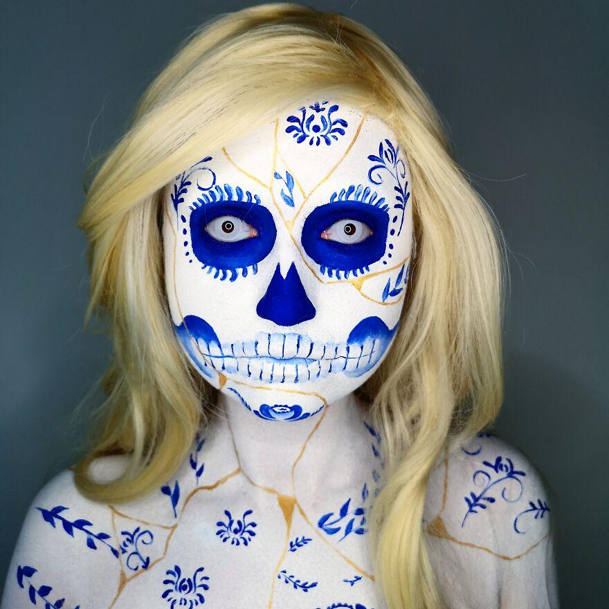 2020 October – Kintsugi Porcelaine Skull