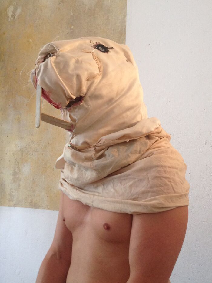 Heterocephalus Glaber-Costume. Love Being The Ugliest Animal Underneath Earth. Rest Of The Costume Needs To Be Repaired.