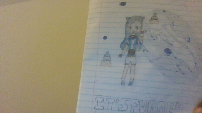 I Drew This When In 5th Grade. I Think It Was Fan Art For Itsfunneh Or Something.