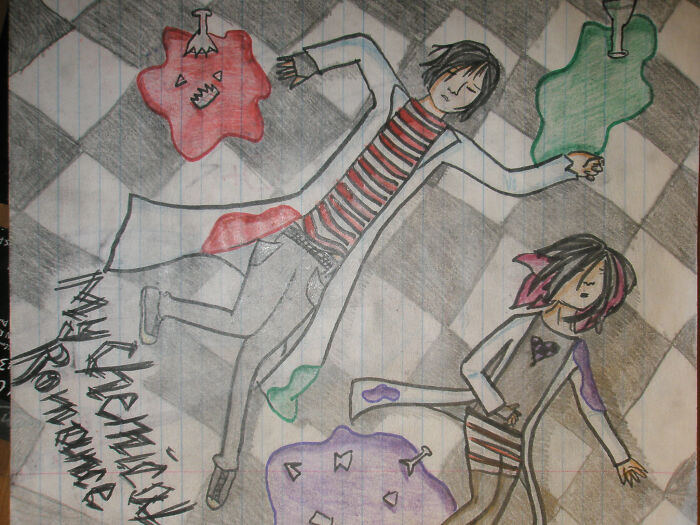 Year 2008, I Was A Huge Mcr And 30 Second To Mars Fangirl So Drawings Like These Were Pretty Common Lol