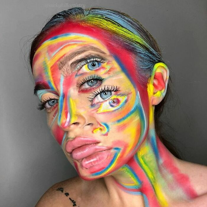 This Self-Taught Makeup Artist Transforms Herself Into Famous People And Psychedelic Creatures (57 Pics)