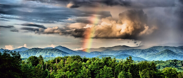 Spring Rainbow After A Thunderstorm On The Blue Ridge Parkway
