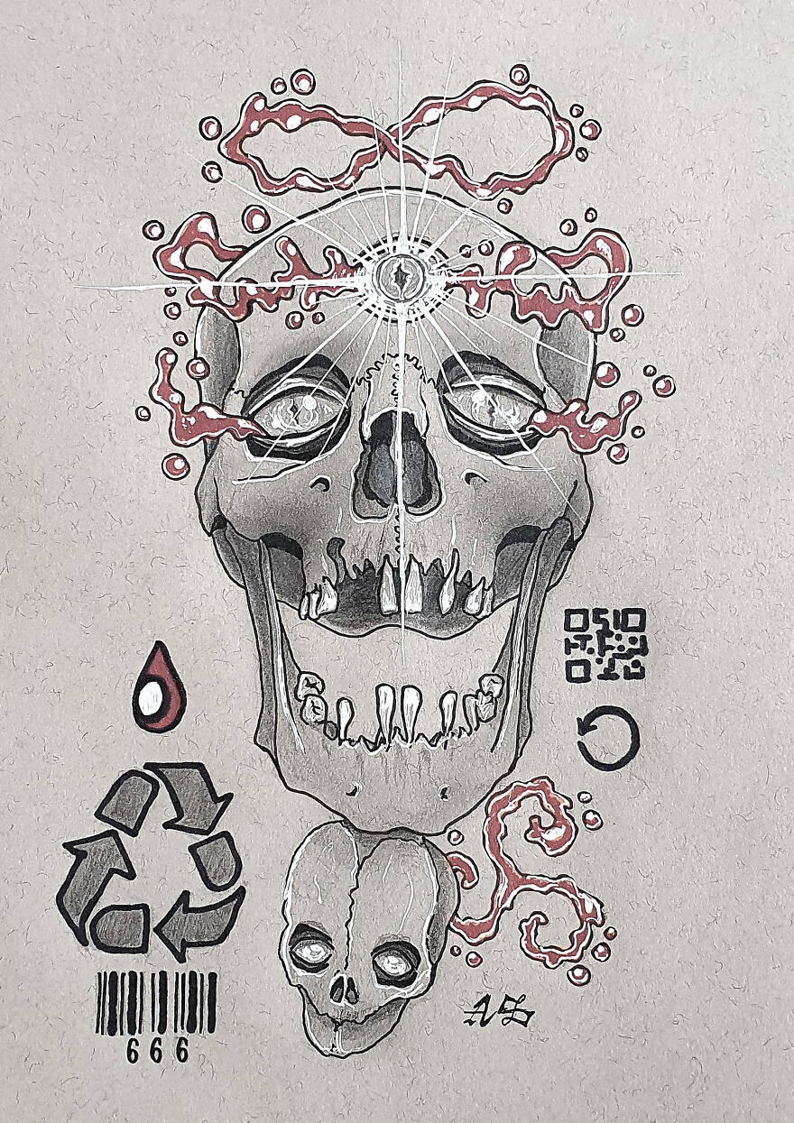 Restart (This One You Can Interpret In Many Ways. Restart Of Life, Rebirth, Reincarnation, The Great Reset, Future Generations, Etc. This S-Ain't Is Wearing A Blood Crown)