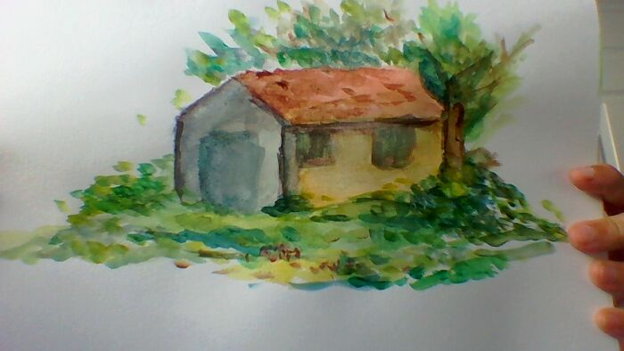 I Did This When I Was 12, Almost 13. This Was From A Painting Tutorial Because I Was Unfamiliar With Watercolour