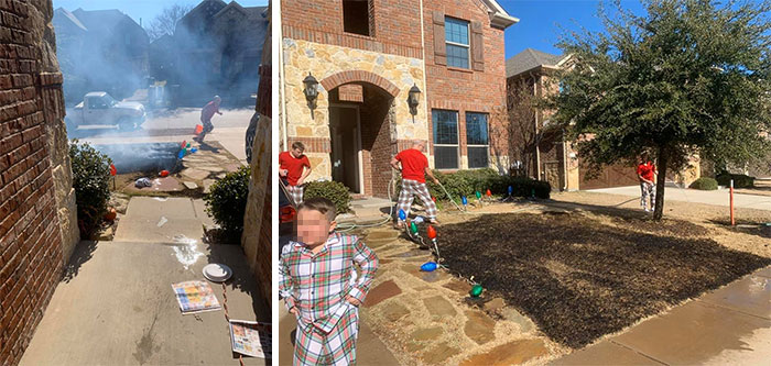Boy Accidentally Sets Lawn On Fire With Magnifying Glass He Got As Christmas Present
