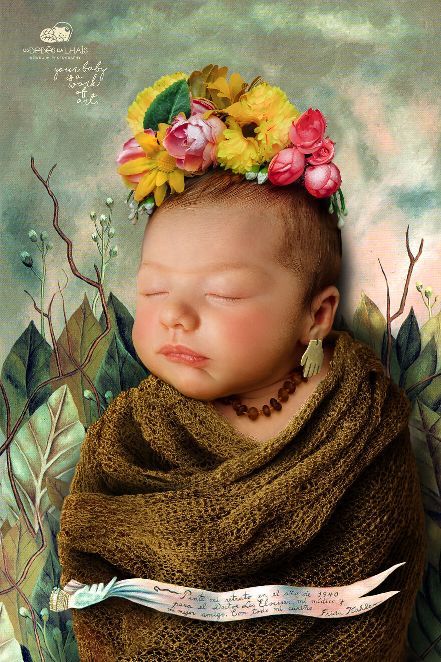 Dad Recreates Famous Paintings In The Cutest Newborn Photoshoot Of His Daughter