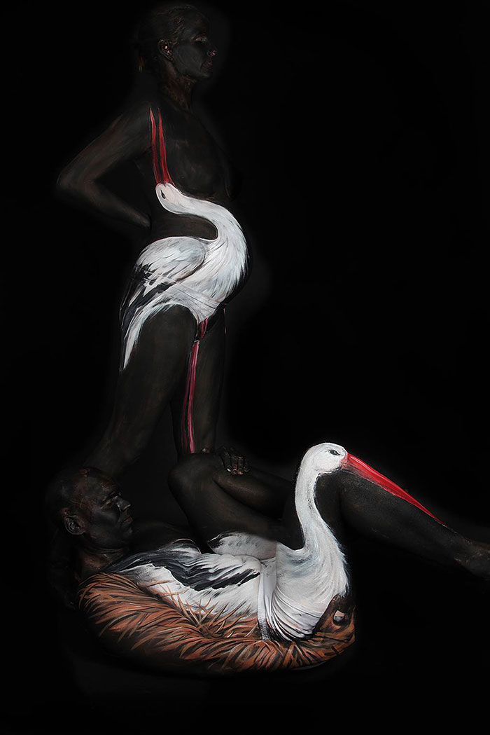 The Animals Painted On This Artist's Contorted Models Will Stir Your Mind