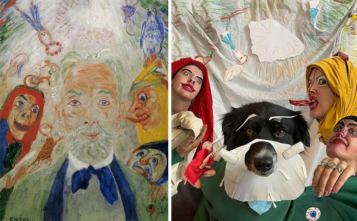 Me And My Circle, 1939 By James Ensor vs. Me And My Circle, 2020