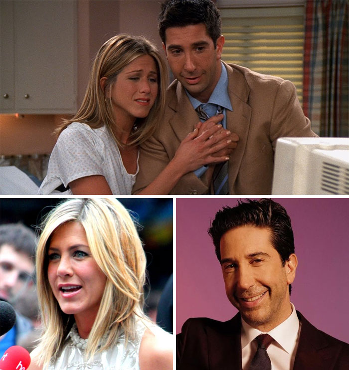 Friends, Rachel y Ross (Jennifer Aniston y David Schwimmer)