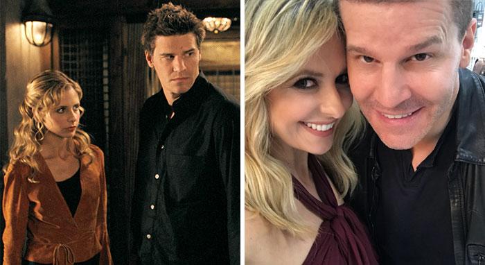 Buffy Cazavampiros, Buffy y Angel (Sarah Michelle Gellar y David Boreanaz)