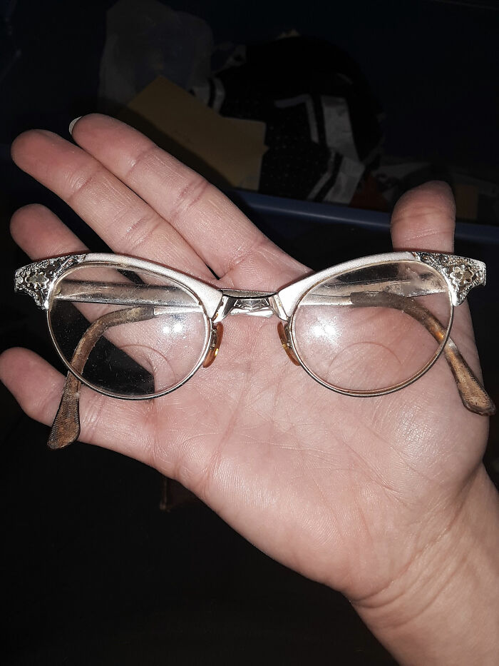I Know It's Not A Thrifted Thing, But, These Were My Great Grandmother's Glasses. I Have No Idea How Old They Are, But Have Always Loved Them. Enjoy!