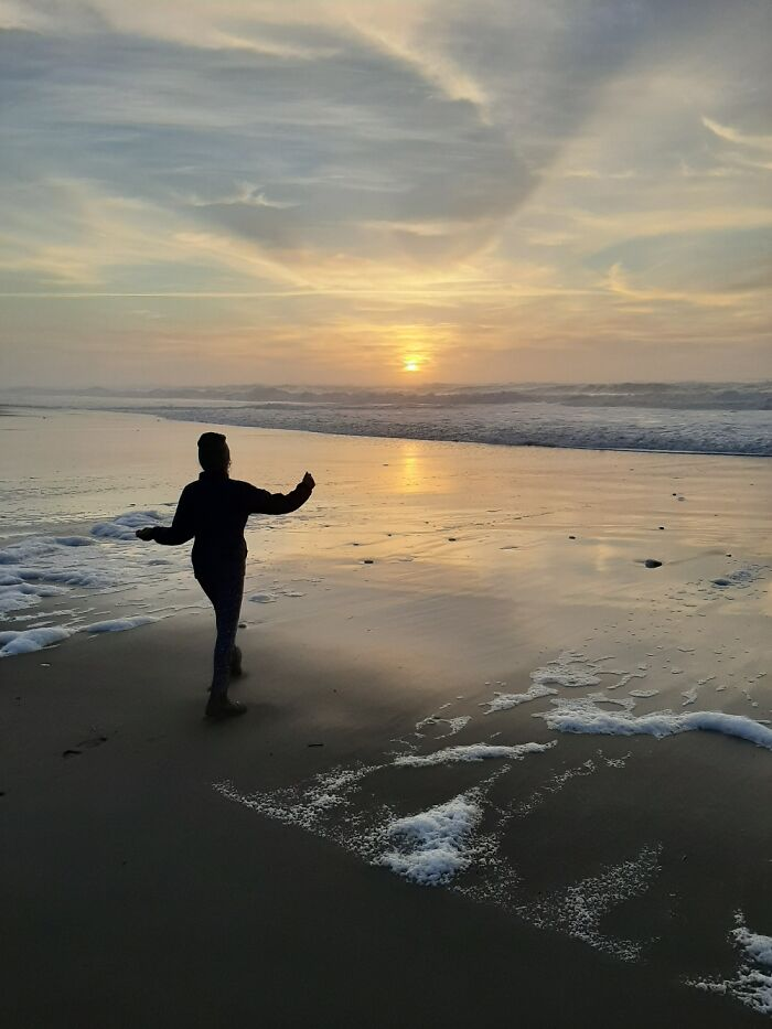 Daughter At Sunset