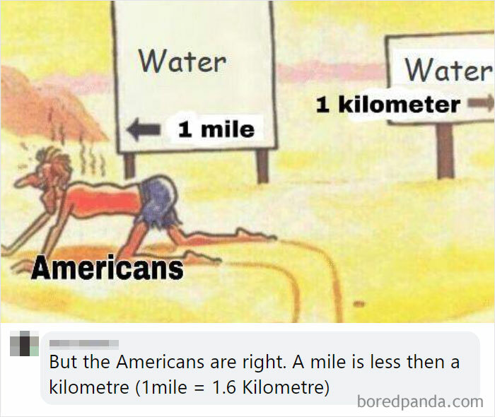 1 Kilometre Is Less Than A Mile