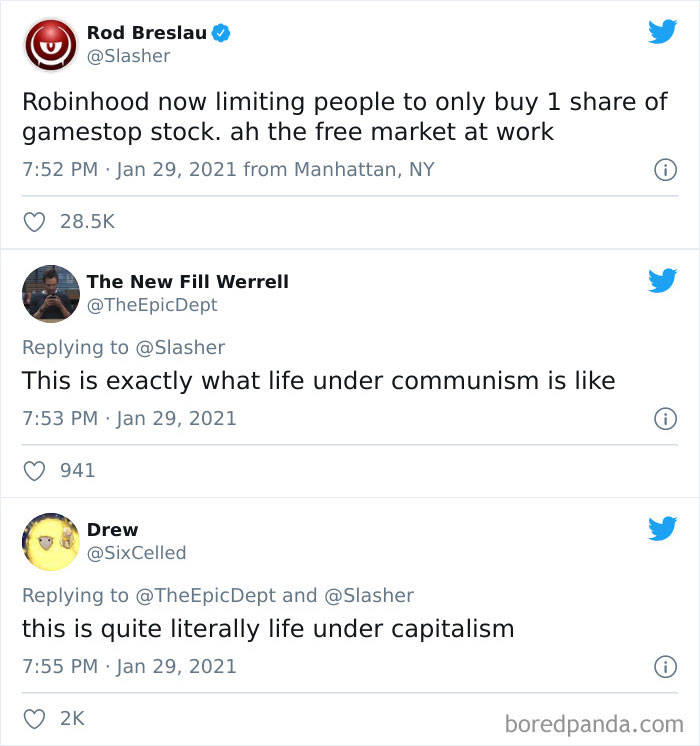 Communism Is When You Are Only Allowed To Buy One Share Of A Stock