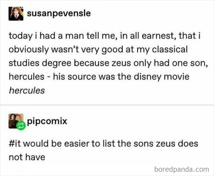 Hmm... Yes. That Sounds Right. Zeus, Mr Horny Year Round, Has Only One Son