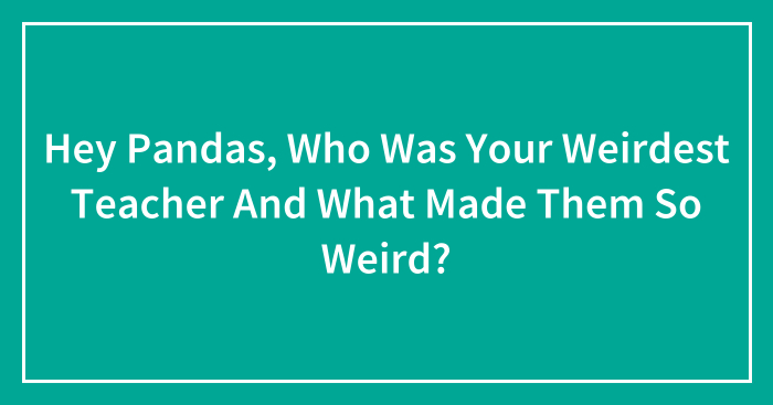 Hey Pandas, Who Was Your Weirdest Teacher And What Made Them So Weird? (Closed)