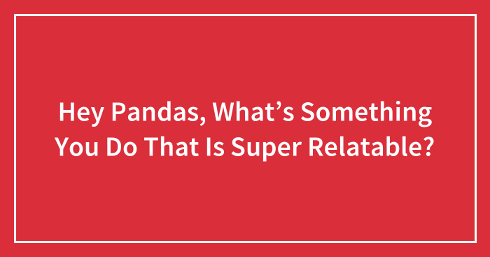 Hey Pandas, What's Something You Do That Is Super Relatable?