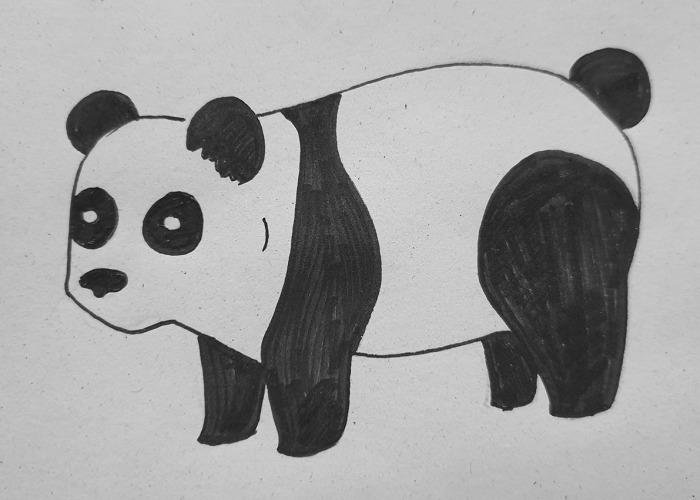 Hey Pandas, I Challenge You To Draw A Panda