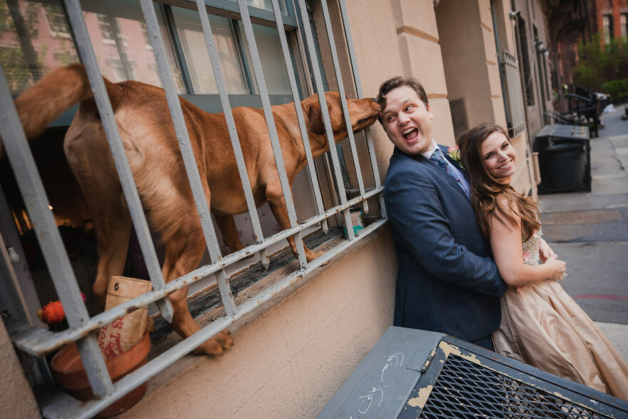 The Perfect Surprise Makes The Moment In This Well-Composed Engagement Photo