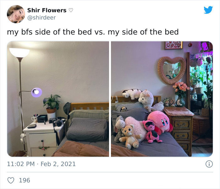 Woman Shares How Different Her Side Of The Bed Looks From Her Boyfriend's Side, Inspires Others To Share Similar Pics