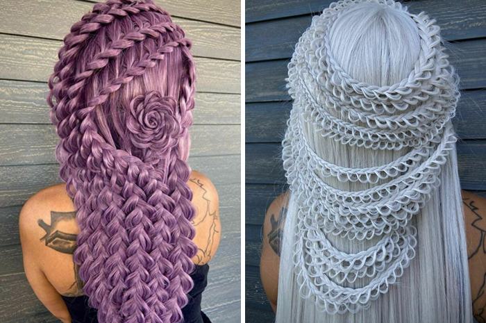 Hairstylist Makes People Look Like They're Protagonists In Some Fantasy Universe (30 Pics)