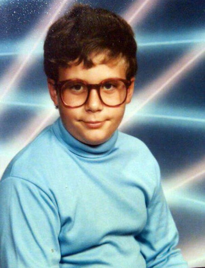 Me, Circa 1991. My Mom Let Me Get The Laser Background. I Am So Proud Of This Pic!