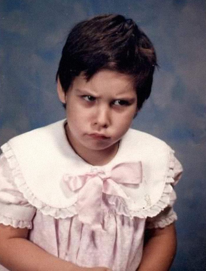 "My Kindergardern School Pic. My Mom Asked Why I Didn't Smile I Said "" I Was Embarrassed To."" 5 Y/O Logic"