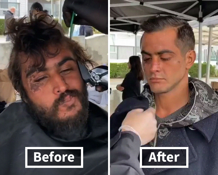 Awesome Barber Transforms Homeless People For Free And These 30 Before & After Pics Show Completely Different People