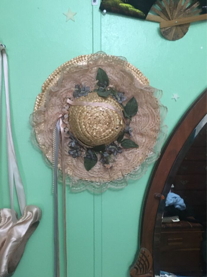 A Sunhat My Great-Grandmother Gave To Me, Not Sure How Old It Is, Just Remember Her Wearing It