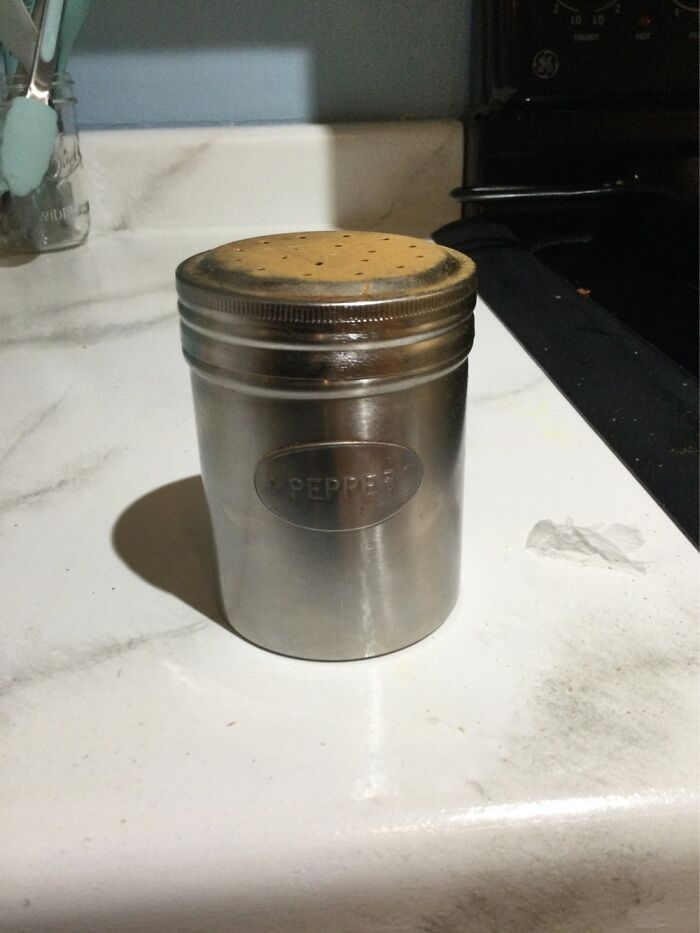 The Converted Cinnamon Sugar Shaker We've Used Since I Was Born. Only Heirloom I Asked For.