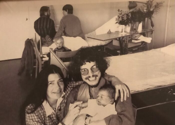 Me And My Parents On The Day I Was Born (Notice The Spooky Ghost Child In The Background)