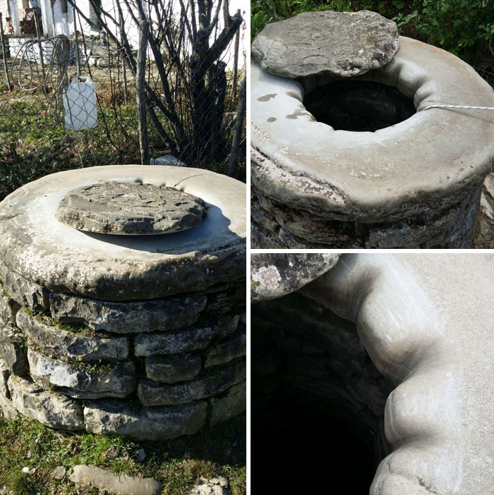 An Old Well In A Village In Permet. It Must Have Taken A Long Time For The Grooves To Appear