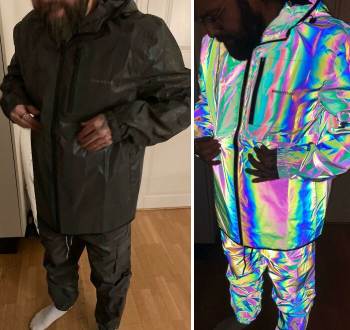 My Husband's Fully Reflective Iridescent Rain Set