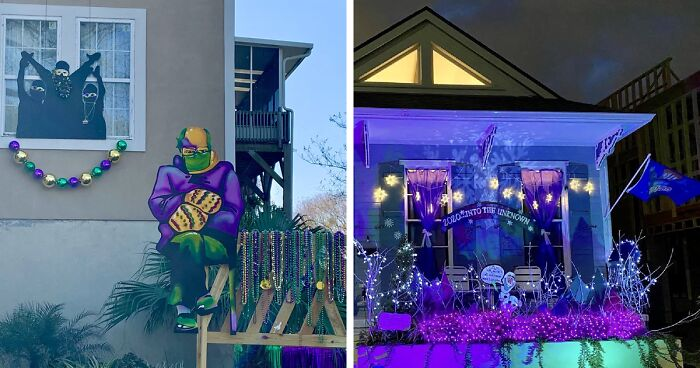 New Orleans Got Creative For This Year's Mardi Gras And Celebrated It With House Floats (62 Pics)
