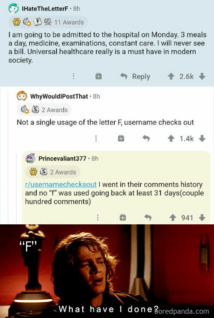 """Madlad Not Using The Letter """"F"""" For At Least One Month"""