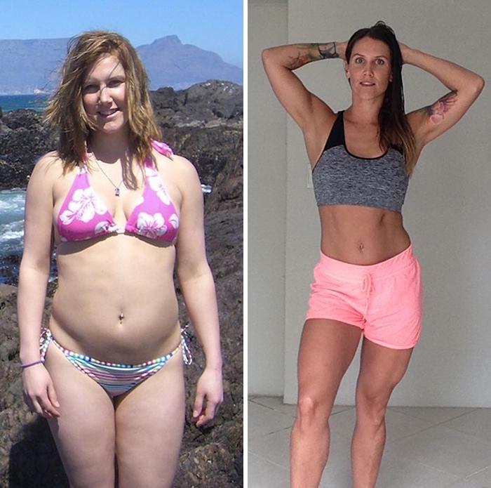 Mismo peso, diferente composición de cuerpo