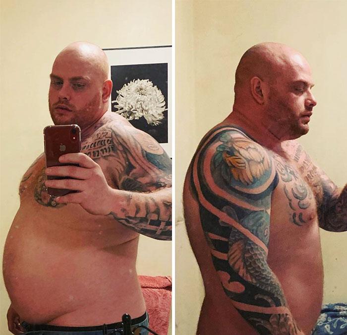 1 de febrero de 2019 - 12 de abril de 2019. Contento con los cambios que estoy viendo pesando exactamente lo mismo 140 kilos