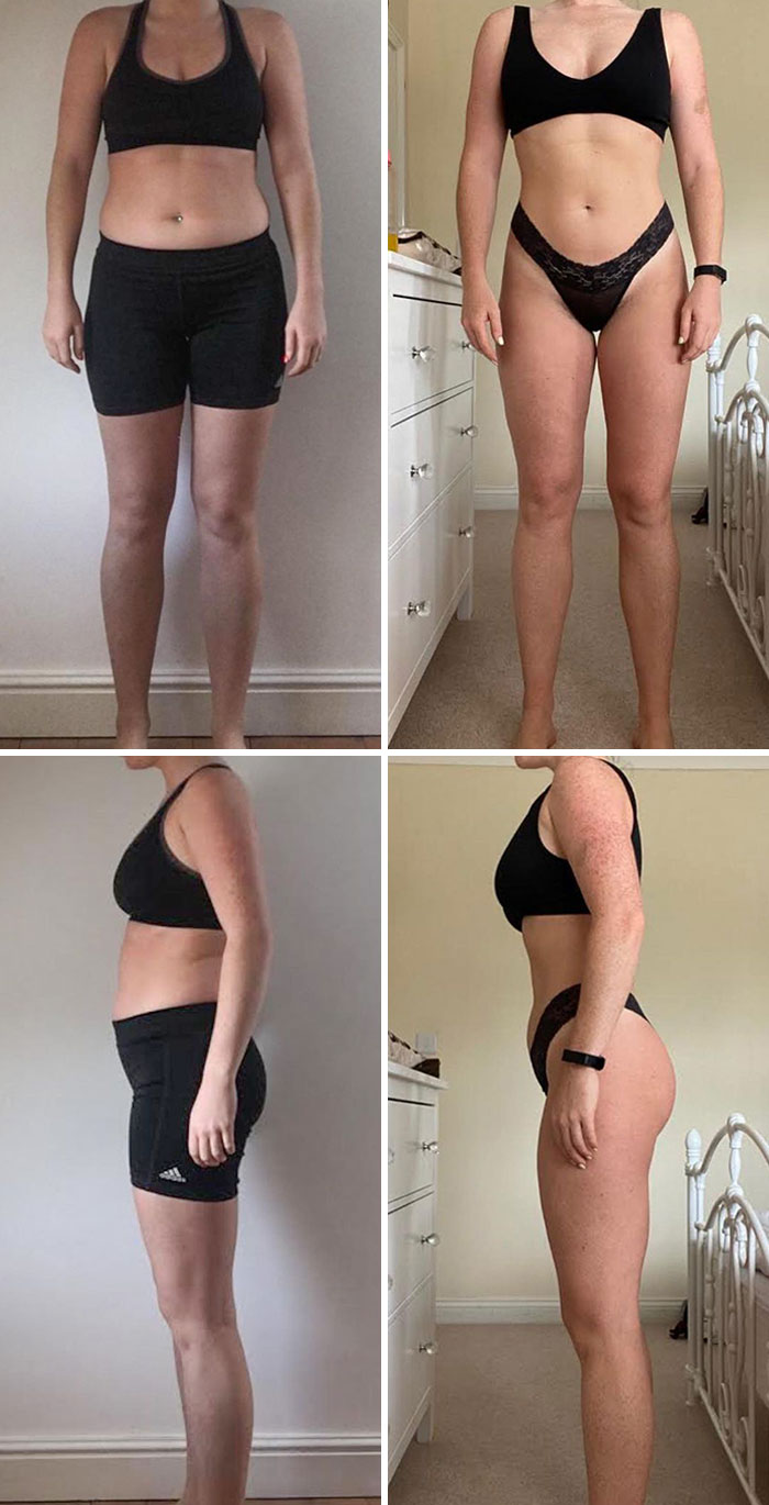 Same Weight In Both Pics. This Is Why We Don't Get Emosh Over Scale Weight. Glutes & Waist Though