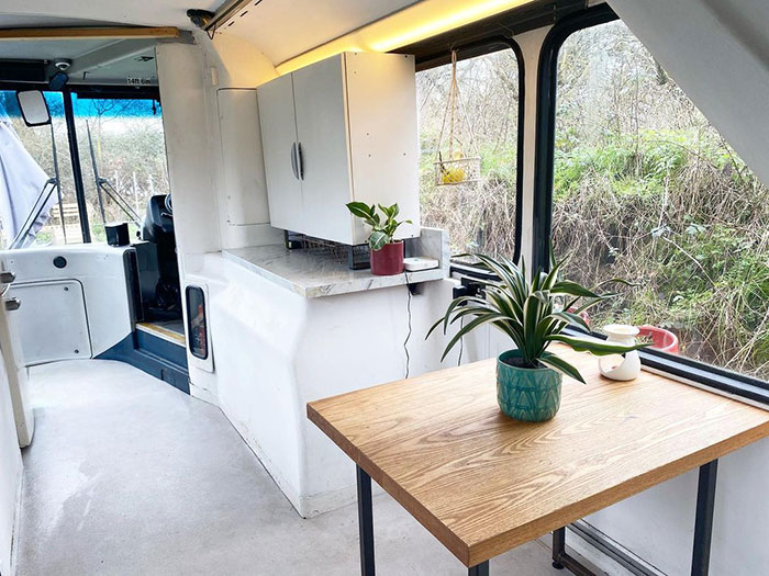 Couple Buys A London Double Decker Bus, Turns It Into A Dream Home Complete With A Fireplace And A Bathtub, Lives Mortgage Free