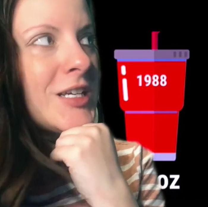 El ridículo tamaño grande de los refrescos estadounidenses