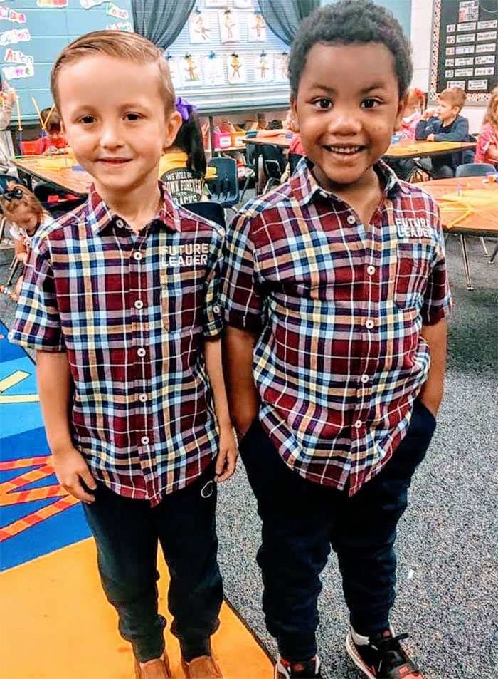 Late Last Night, Myles Went On And On About How He Had To Be Twins With A Boy In His Class For Twin Day Because They Look Exactly The Same — Same Eyes, Same Hair. He Was Adamant That They Were Identical