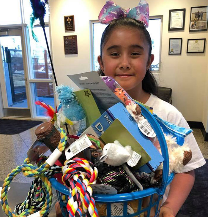 This Is Sophia. She Just Turned Ten And Used Her Birthday Money To Purchase Toys For The Dogs & Cats At The Animal Shelter